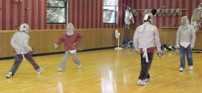 Fencing Practice